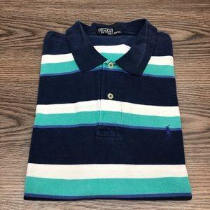 Polo Ralph Lauren Navy & Seafoam Stripe Shirt M